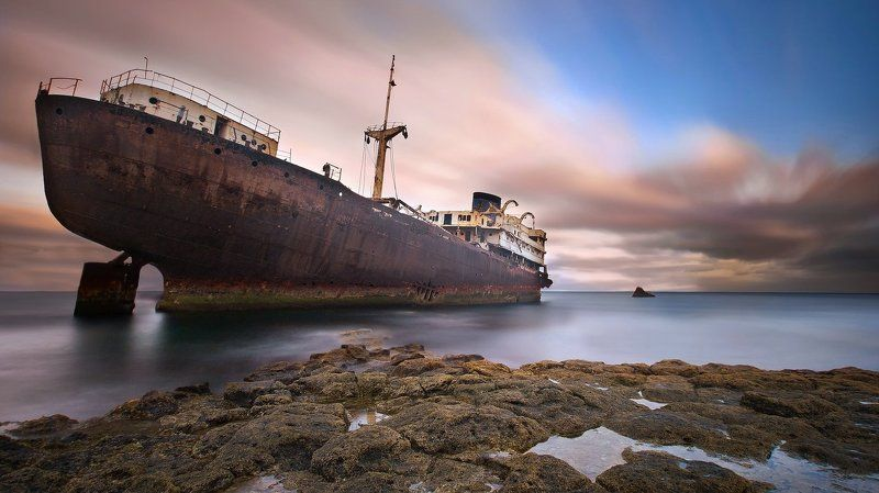 Lanzarote, Spain, Wreck Abandoned Ladyphoto preview