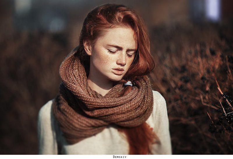 девушка, рыженькая, модель, веснушки ***photo preview