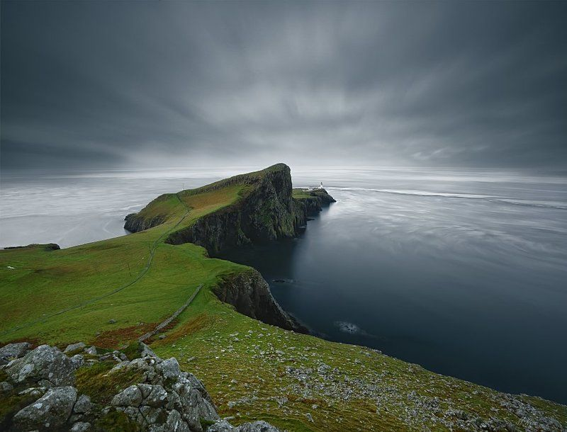 Neist Point, long exposure, scotland, Atlantic ocean, rocks, stones, lighthouse,  Neist Pointphoto preview
