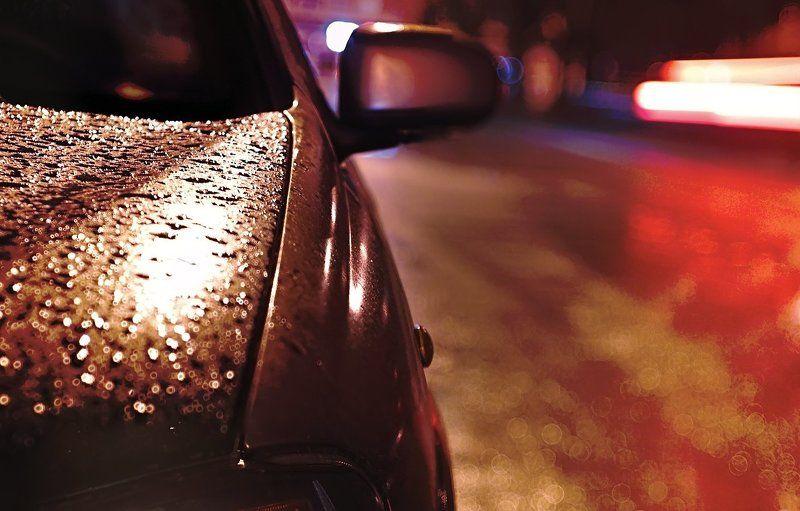 Автомобиль, Боке, Весна, Вечер, Время, Город, Город, вечер, автомобиль, дождь,, Дождь, Дорога, Капли, Красота, Огни, Освещение, Свет ~127~photo preview