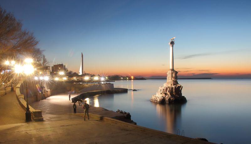 Севастополь.Вечер на Приморском бульвареphoto preview
