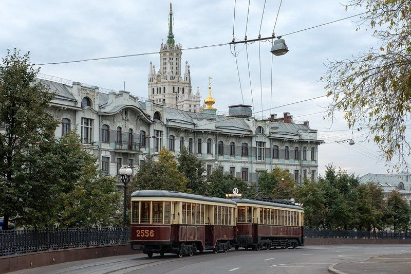 Мосгортранс, Москва, Московский трамвай, Трамвай Яузский бульварphoto preview