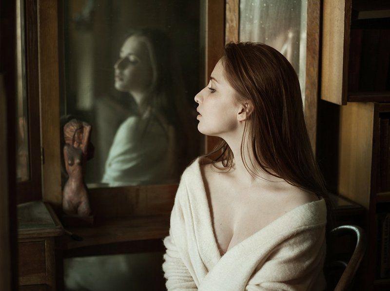 портрет, красивая, девушка photo preview