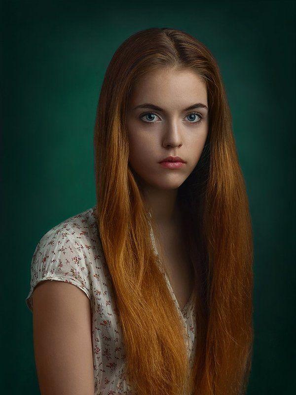 Взгляд, Девушка, Портрет, Рыжая ***photo preview