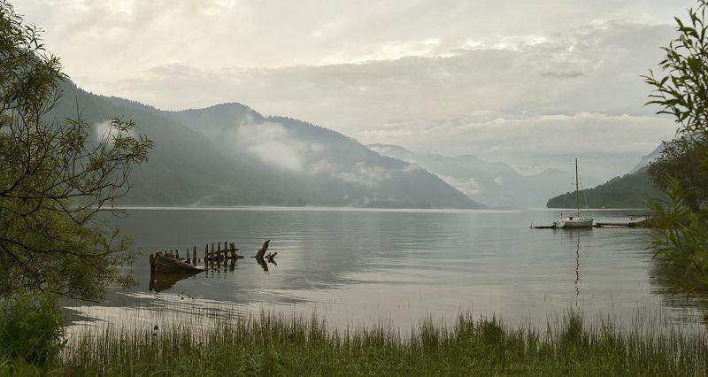 озеро алтай телецкое утро корабль Телецкое озероphoto preview