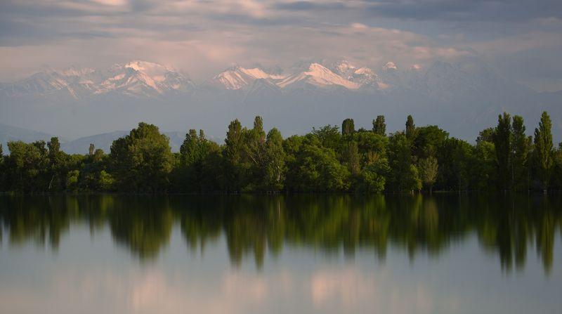 t_berg бишкек ала-арча киргизия горы Вечерний пейзаж в декорацияхphoto preview