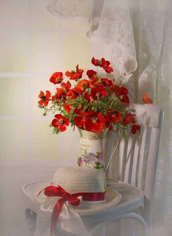 Весна, Маки, Настроение, Натюрморт Одно ПреКрасное утро...photo preview