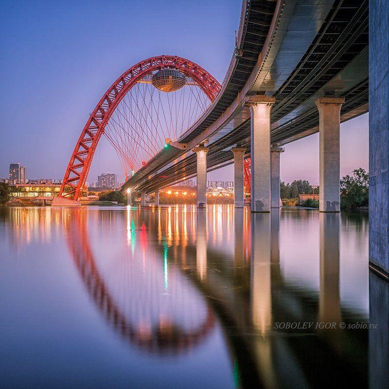 Вечер, Живописный мост, Москва, Москва-река У Живописногоphoto preview
