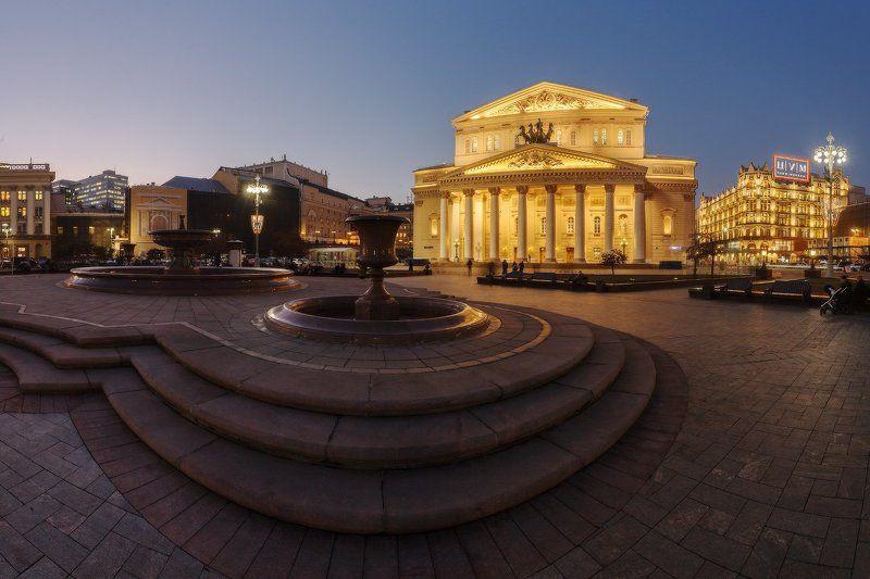 москва, столица, россия, большой, театр Прошлогодняя новая подсветка Большого...photo preview