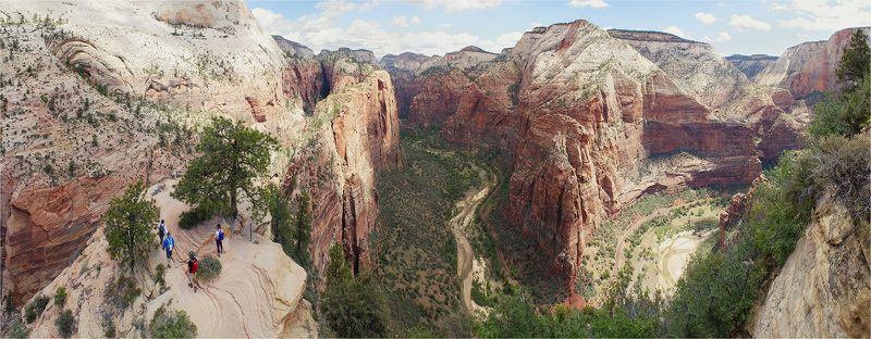 zion, utah, usa, canyon, зайон, юта, сша, каньон [angels landing]photo preview