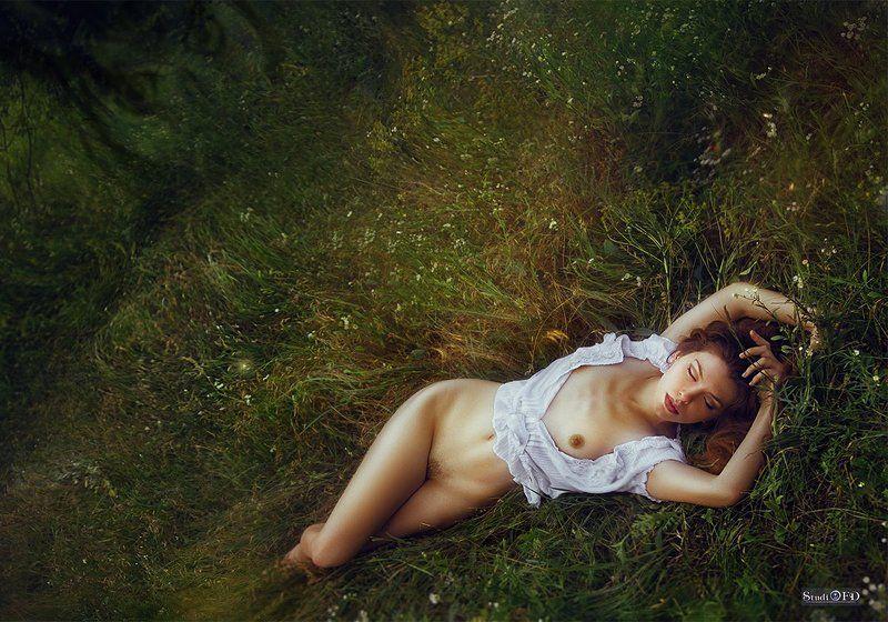 Art nude, Арт-ню, Девушка, Обнаженная женщина, Природа Сны Дианы....photo preview