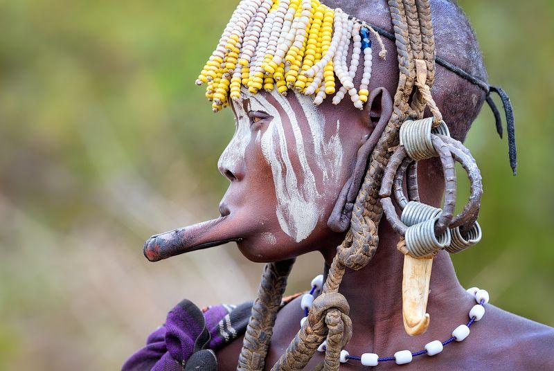 Мурси, племя, Эфиопия, долина Омо, Африка Эти странные Мурси...photo preview
