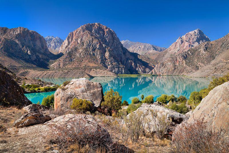 Таджикистан, Средняя Азия, Фанские горы, Искандер, Александр Великий, горы, озеро, бирюзовый, путешествия Бирюзовое озеро Искандер-Кульphoto preview