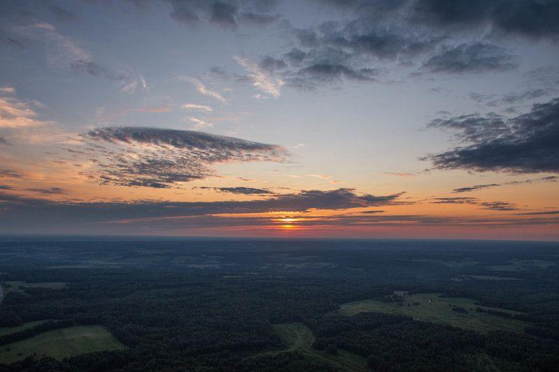 вышка, высота, закат, природа, пейзаж Закат с вышки в 355 метров!photo preview