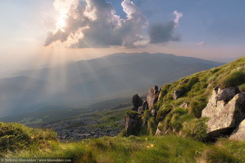 Carpathian mountains, Landscape, Nature, Ukraine, Горы, Карпаты, Пейзаж, Природа, Украина Сияниеphoto preview