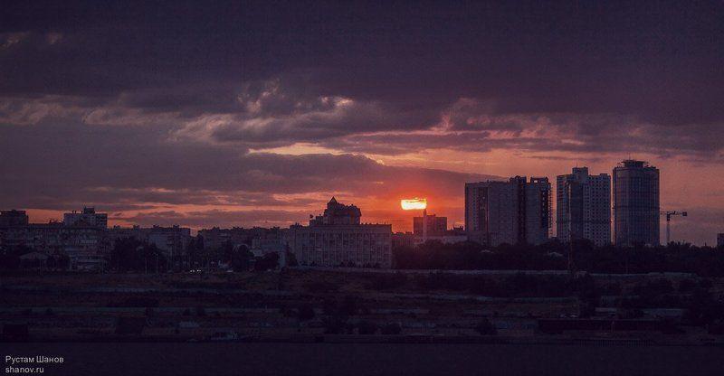 закат, Волгоград, город, пейзаж Закат. г. Волгоградphoto preview