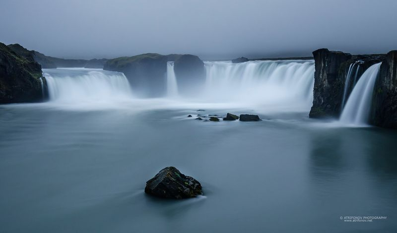 Iceland, Godafoss, waterfall, water, God, stones, rocks, landscape Godafossphoto preview