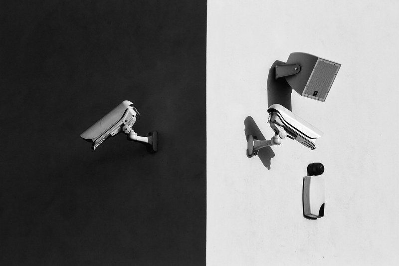 street,security,black,white, light, The city which consist of small partsphoto preview