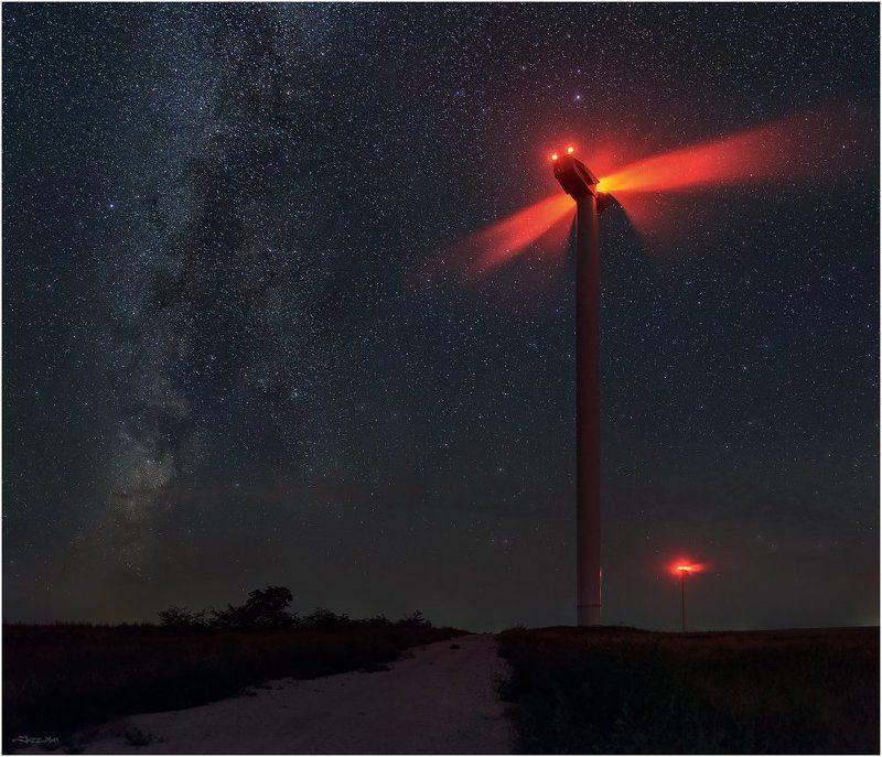 Галактика, Звёздное небо, Звёзды, Земля, Крым, Млечный путь, Ночной пейзаж, Ночь ...Гости...photo preview