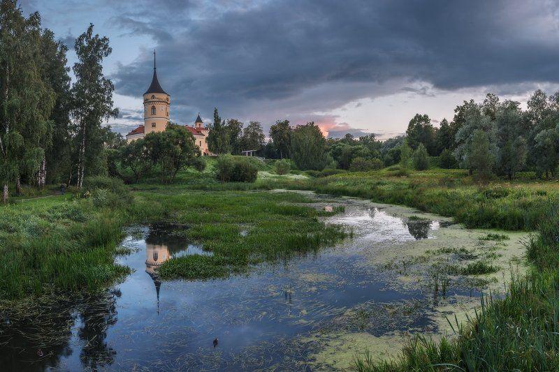 павловск, мариенталь, бип, лето, закат, панорама про лето Мариентальского замка...photo preview
