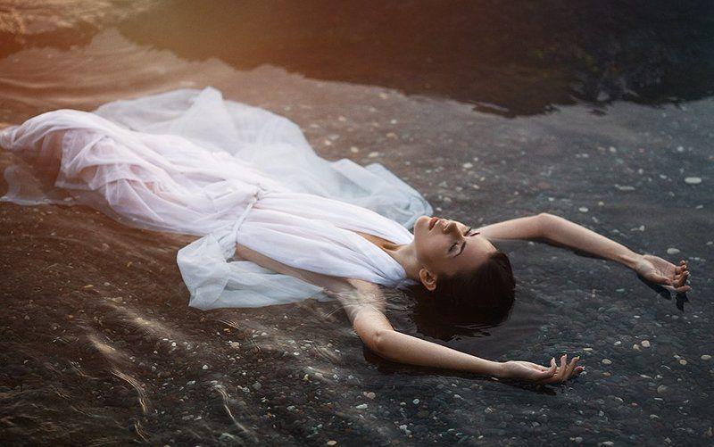фото, девушка, портрет, вода, море, photo, girl, portrait, art, water, sea, canon Аннаphoto preview