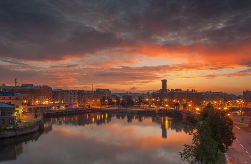 t_berg питер рассвет фонтанка Рассвет на Калинкином мостуphoto preview