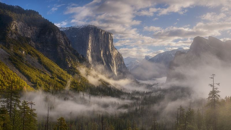 usa, california, yosemite, fog, tunnel view Tunnel View Yosemitephoto preview