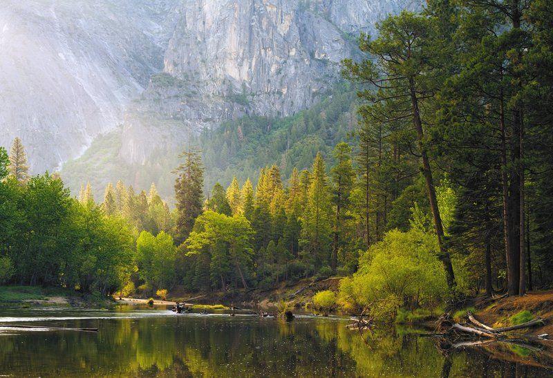 Merced River, Yosemite  Merced River morningphoto preview