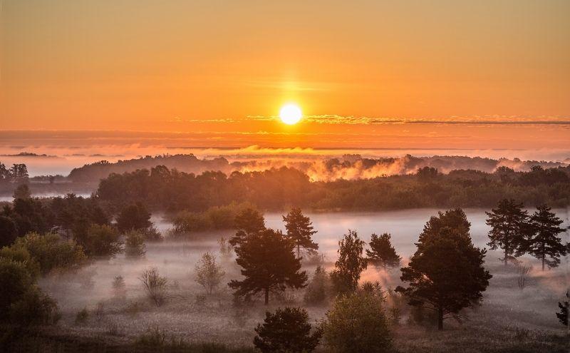 Муром, рассвет, туман Рассвет под Муромомphoto preview