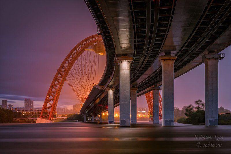 Вечер, Дождь, Живописный мост, Москва, Россия Под дождемphoto preview