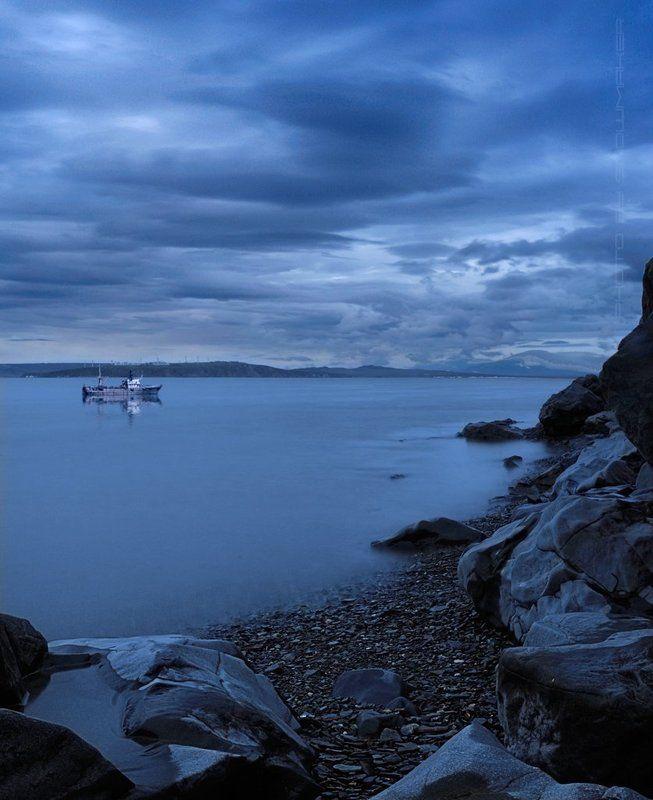 фото, чукотка, photo, chukotka, snowmaker, камни, лиман, анадырь, anadyr, море, Silence in bluephoto preview