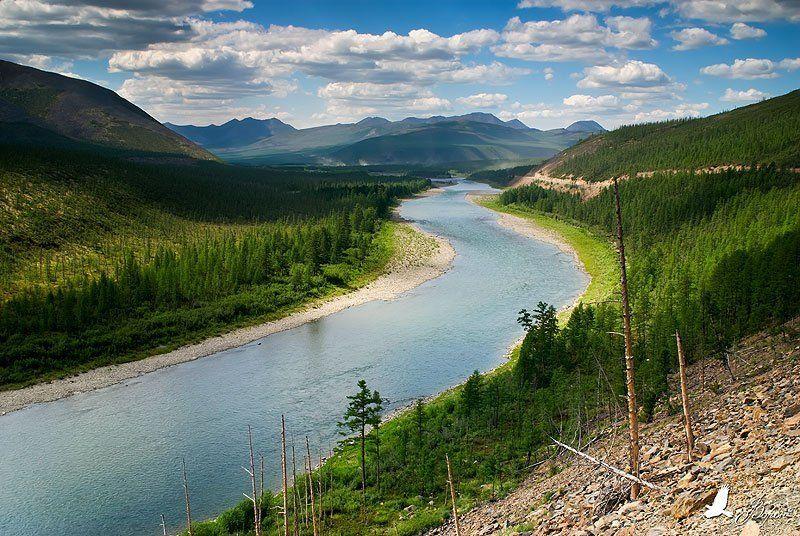 река, сопки, лес, буюнда, путешествие, вода, облака Буюнда, река оленья...photo preview