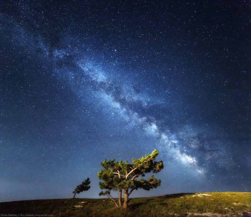 Пейзаж, ночное небо, млечный путь, галактика, звёзды, астрофотография Млечный путь над Ай-петри (Крым)photo preview