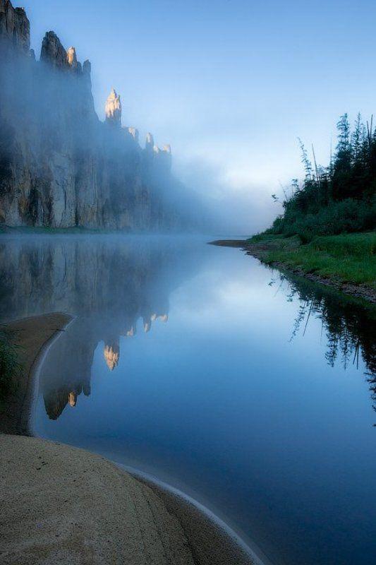 Река Синяя, Синские столбы, Якутия Туманные замки Синей рекиphoto preview