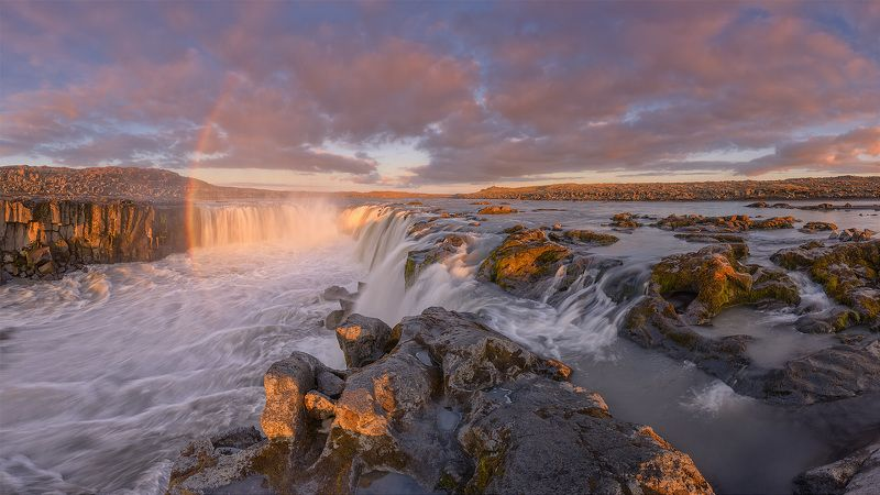 iceland, selfoss Закат на  Selfoss...photo preview
