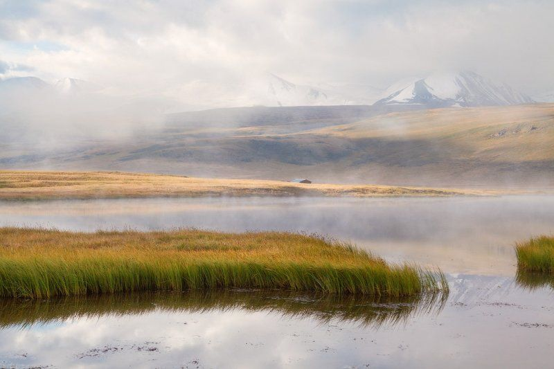 Алтай, Гусиное, Укок Туманный восход на Гусином.photo preview