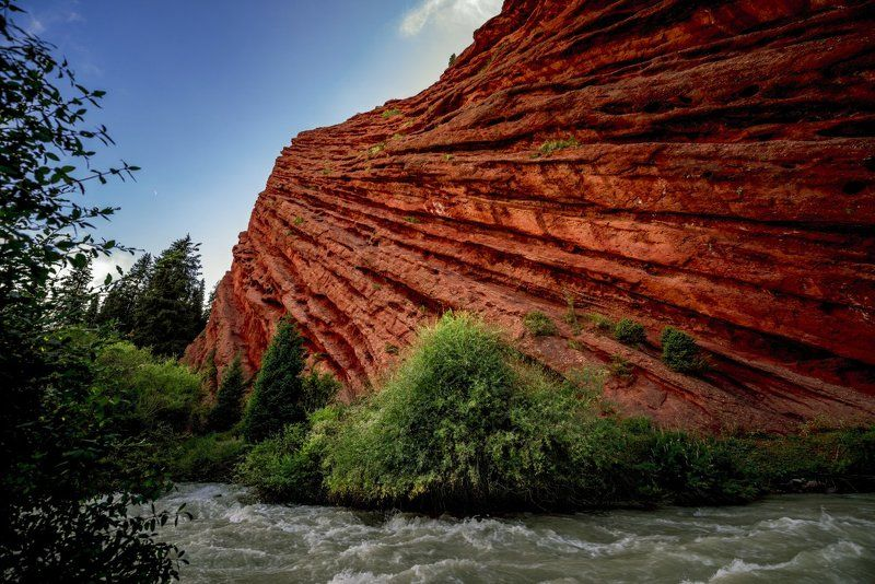 grigoriy bedenko, hoya r-72, горы, григорий беденко, джеты-огуз, жеты огуз, инфракрасный, иссык-куль, каньон, киргизия, красный, кыргызстан, песчаник, скалы, терскей-алатоо, тянь-шань, ущелье, фильтр # Джеты-Огуз #photo preview
