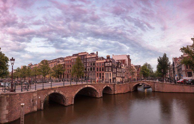 амстердам, закат, мост, канал, небо, облака, фототур Мосты Амстераphoto preview