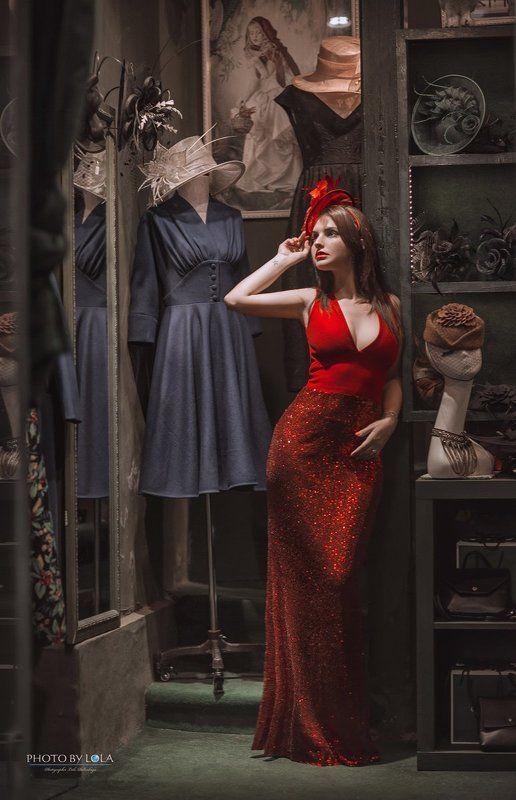 шанхай, девушка, красавица, шляпки, магазин, ретро ***photo preview