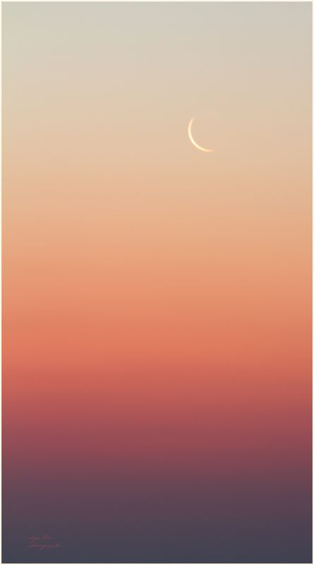 Крым, месяц, рассвет, градиент, цвета Перед рассветомphoto preview