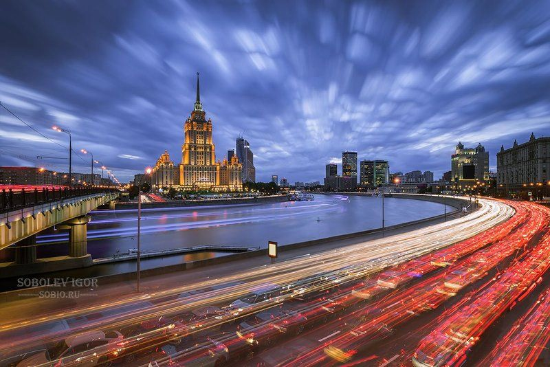 a7r, sony, вечер, гостиница украина, закат, москва Московский драйвphoto preview