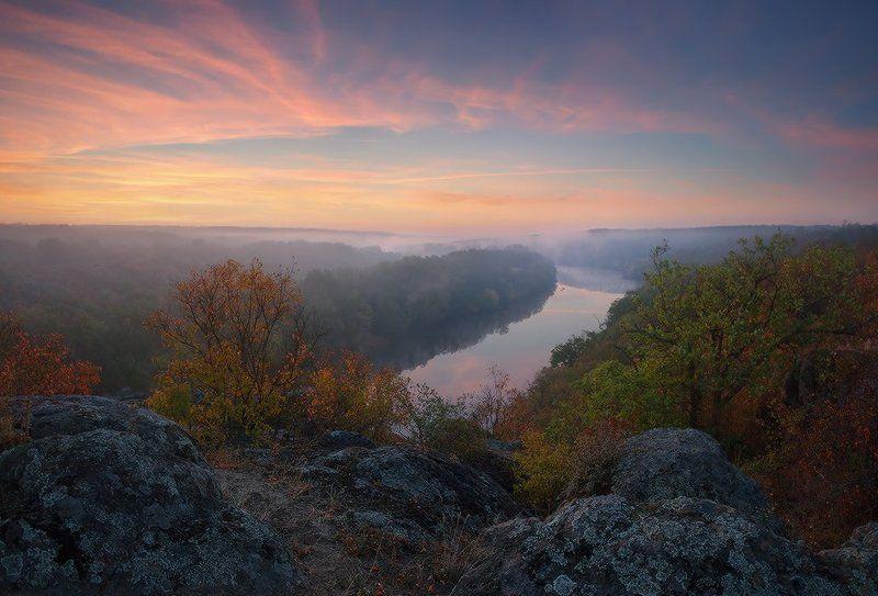 Осеннее утро на Южном Буге...photo preview