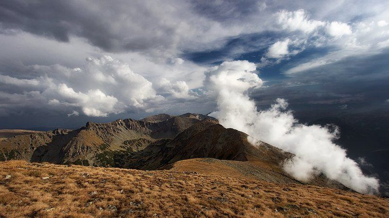 Булгария, Вершины, Гора, Рила Когда облака ухаживает вершиныphoto preview