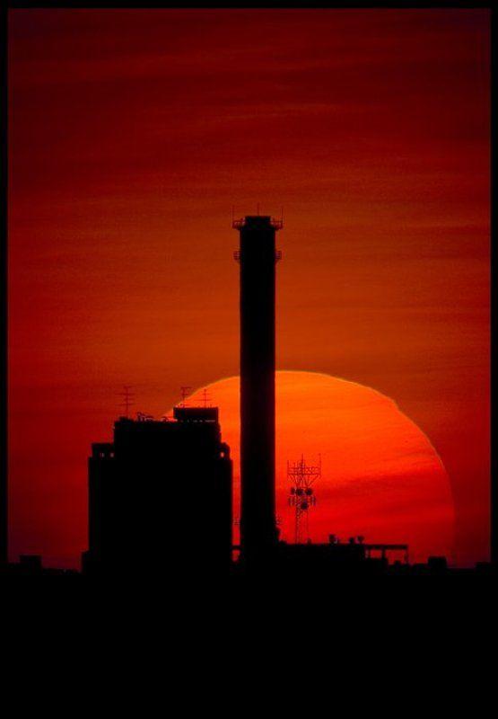 Индустриальный закат.photo preview