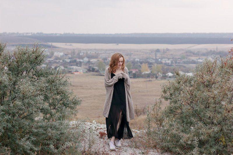 Девушка портрет пейзаж цвет фото canon 550D 50 1,8 Викаphoto preview
