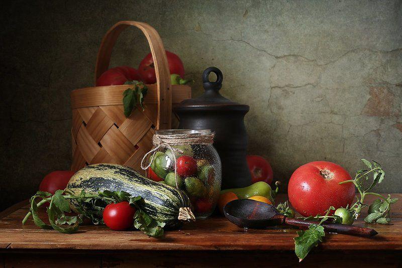 Кабачок, Капуста, Овощи, Помидоры Сентябрьские овощиphoto preview