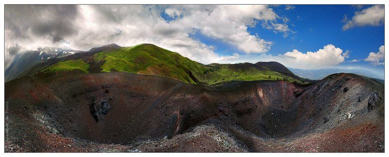 вулкан, этна, сицилия,  кратеры, панорама, вулканы, италия Ноздри Землиphoto preview