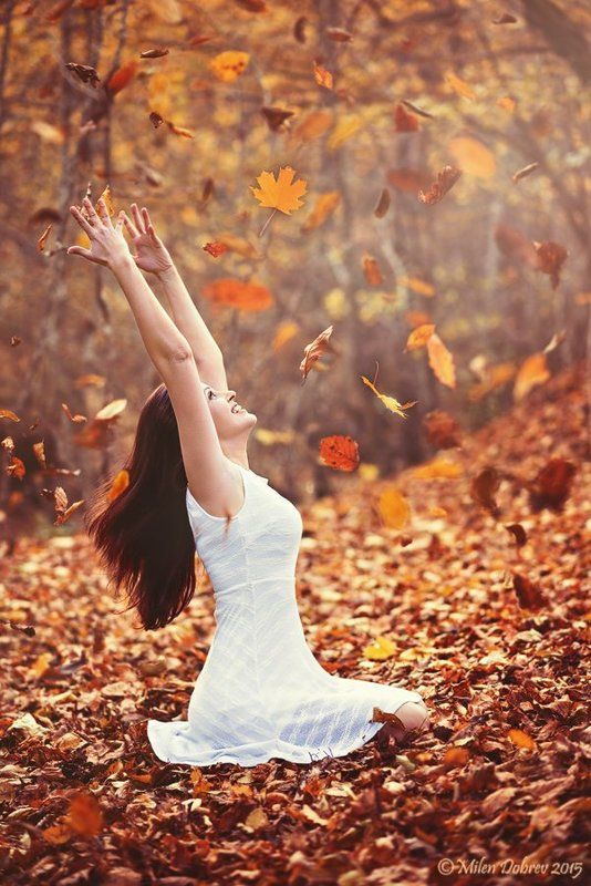 autumn,portrait, leaves, fall, forest, beauty, girl ***photo preview