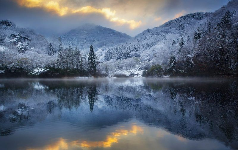 Cold, Korea, Reflection, Snow, Sunlight, Winter Rhapsody in Bluephoto preview