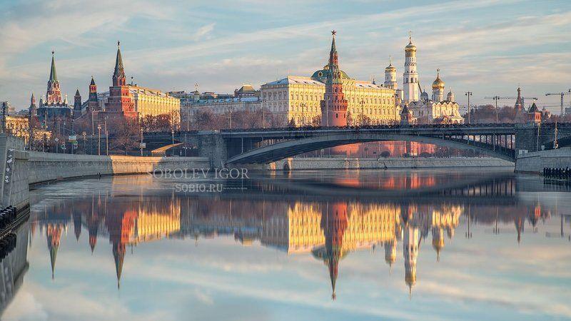 Город, Городской пейзаж, Кремль, Москва, Россия Московский кремль утромphoto preview